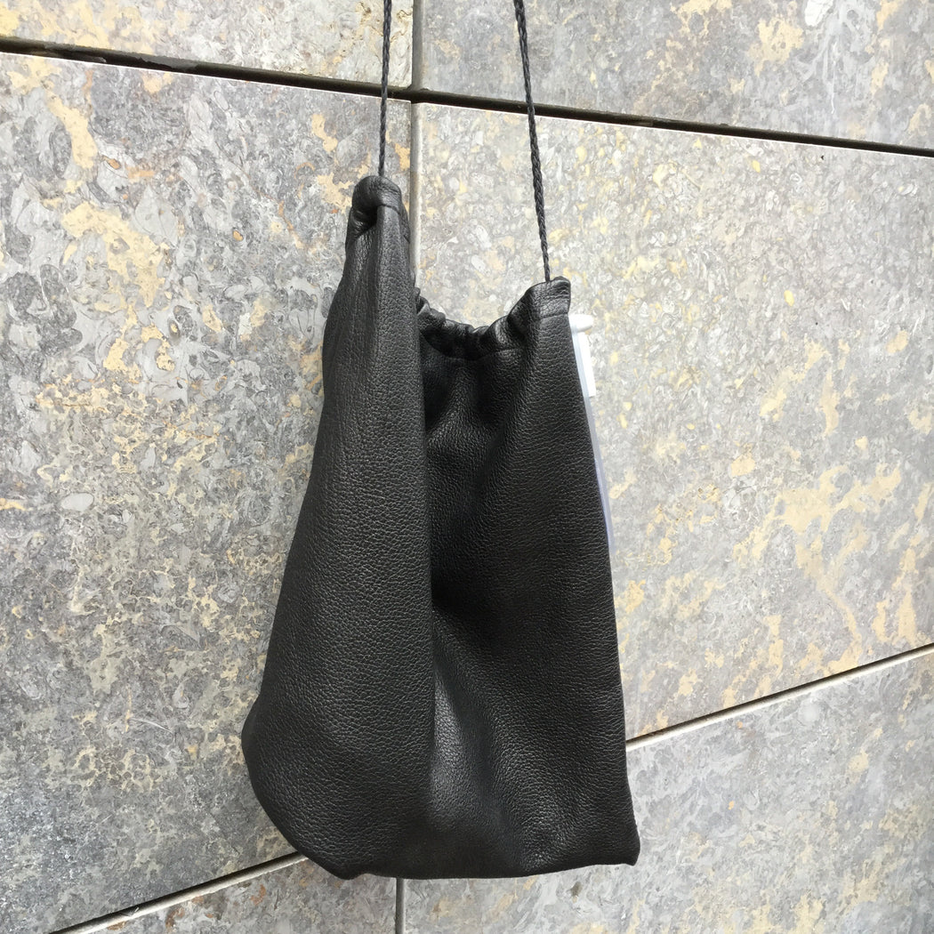 Black Leather DKNY Duffle Bag  Size Os