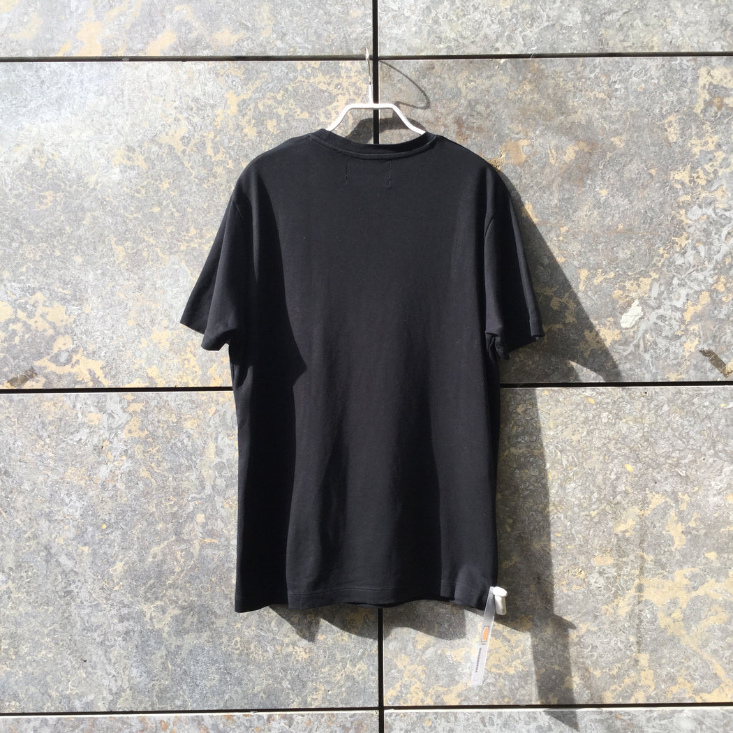 Black-White Cotton Raf Simons X Fred Perry T-shirt Pocket Detail Size M/L