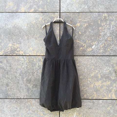 Faded Black Silk Marc by Marc Jacobs Halter Dress  Size S/M