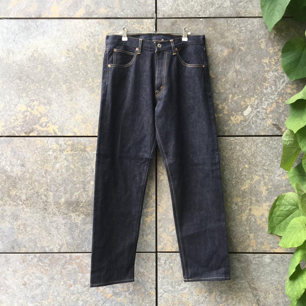 Midnight Blue Denim Comme Des Garcons - Homme Straight Fit Jeans Wide Leg Size 32