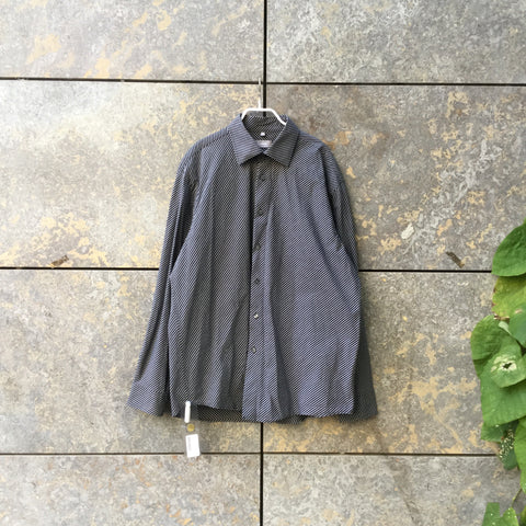 Black-Grey Cotton Mix Vintage Shirt Oversized Size L/XL