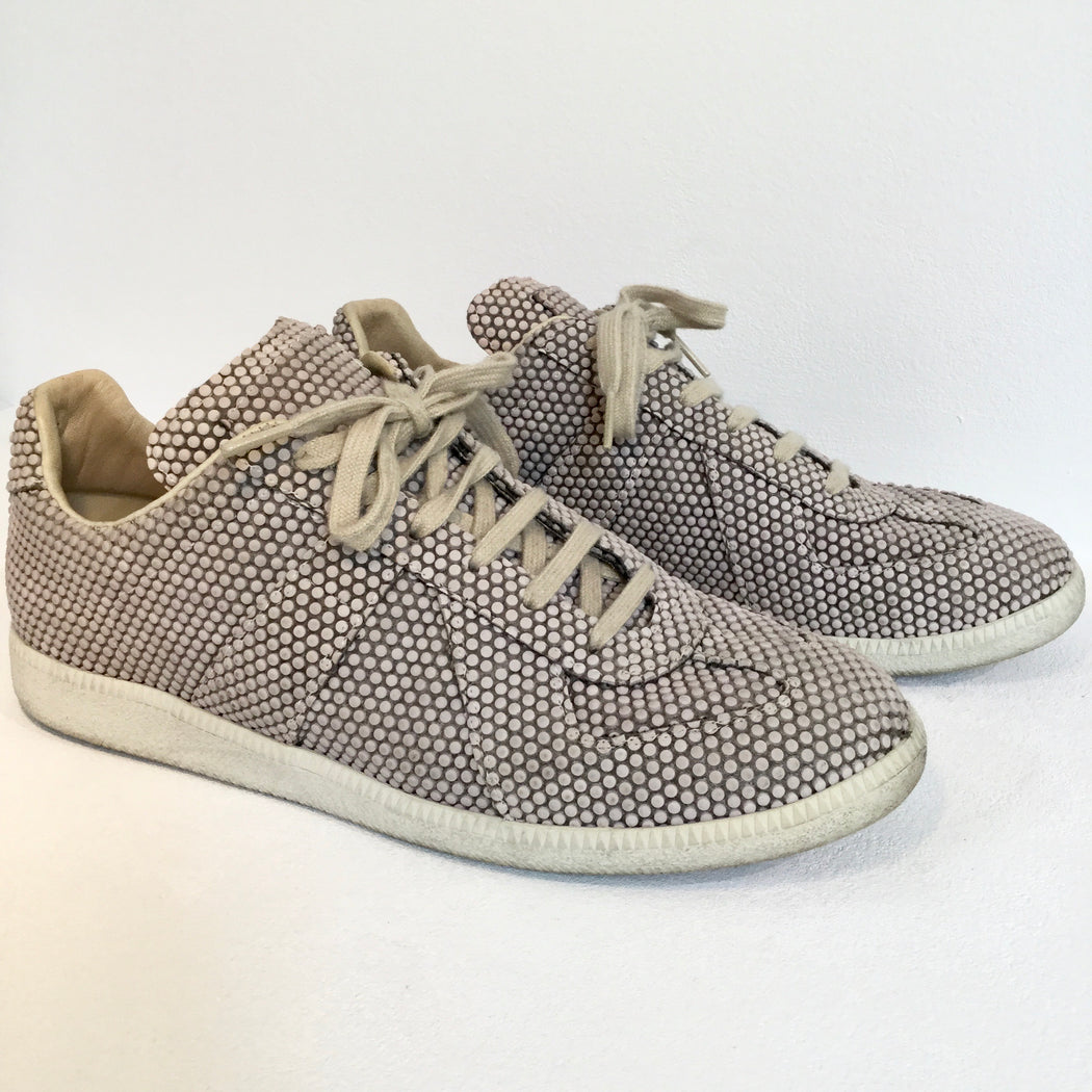 Faded Mauve-Grey Taupe Leather/synthetic Mix Maison Martin Margiela Sneakers, Size 44