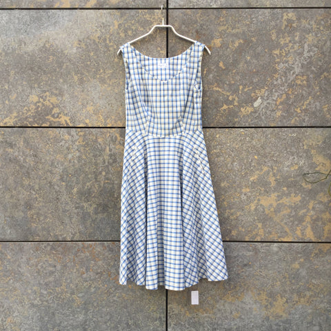 Blue-White Cotton Agnes b Doll Dress  Size M/L