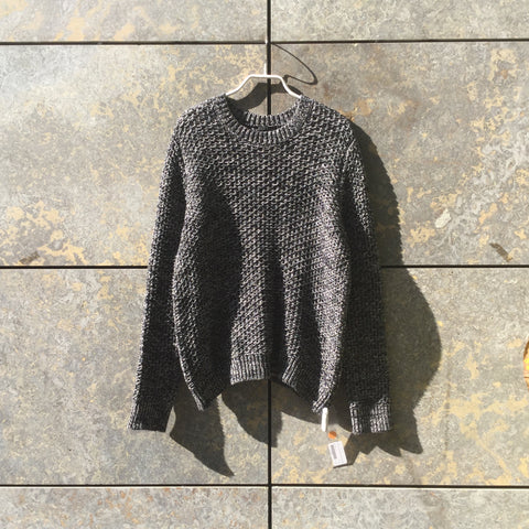 White-Black Cotton COS Sweater Boxy Size L/XL