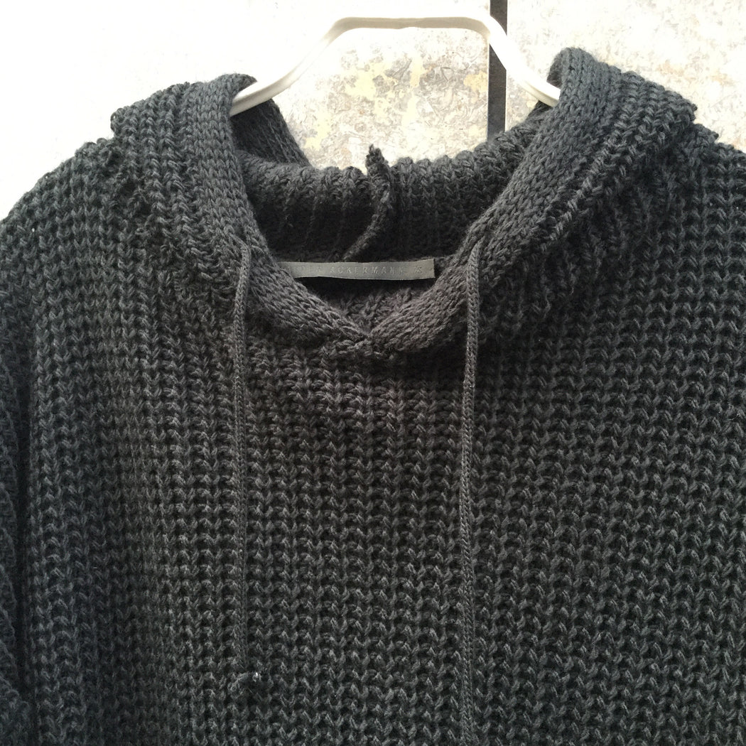 Black Cotton Mix Haider Ackermann Sweater SS Hoody Size S