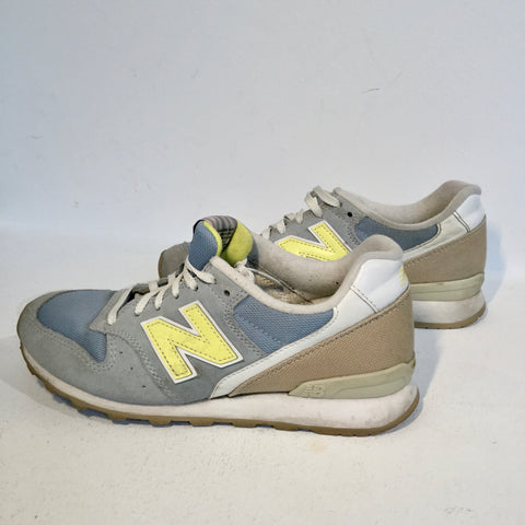 Blue Grey-Yellow Leather/synthetic Mix New Balance Sneakers  Size 37
