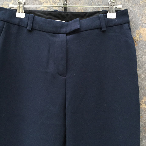 Navy Polyester Mix Maje Trousers  Size 26/27