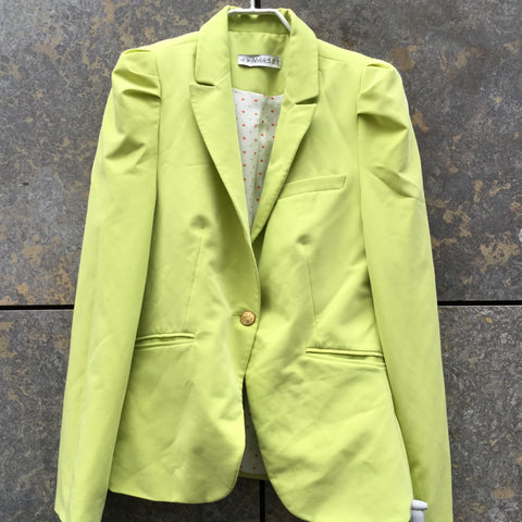 Green Polyester Mix Vintage Blazer Shoulder Pad