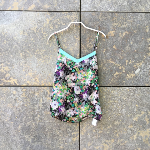 Colorful Silk Maje Tank  Size S/M