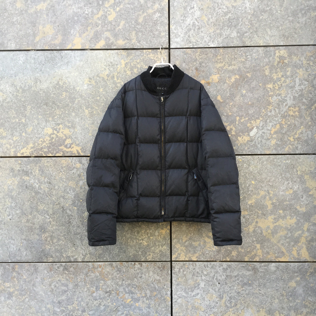 Black Down Gucci Heavy Bomber  Size L/Xl