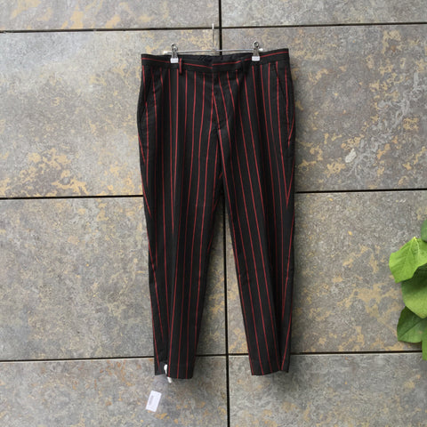 Black-Red Polyester Mix Asos Trousers  Size 34