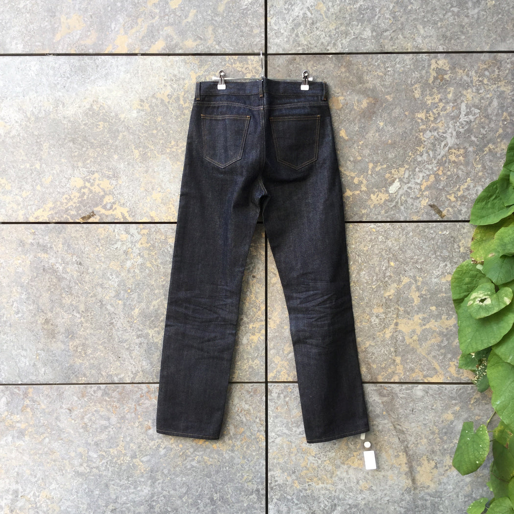 Midnight Blue Denim Arket Straight Fit Jeans  Size 34