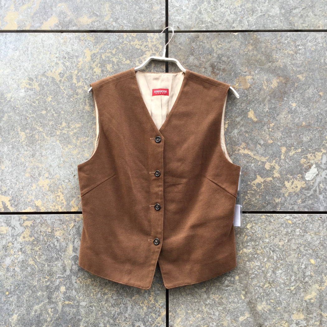 Brown Cotton Strenesse Light Vest  Size M/L