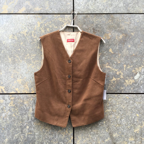 Brown Cotton Strenesse Light Vest