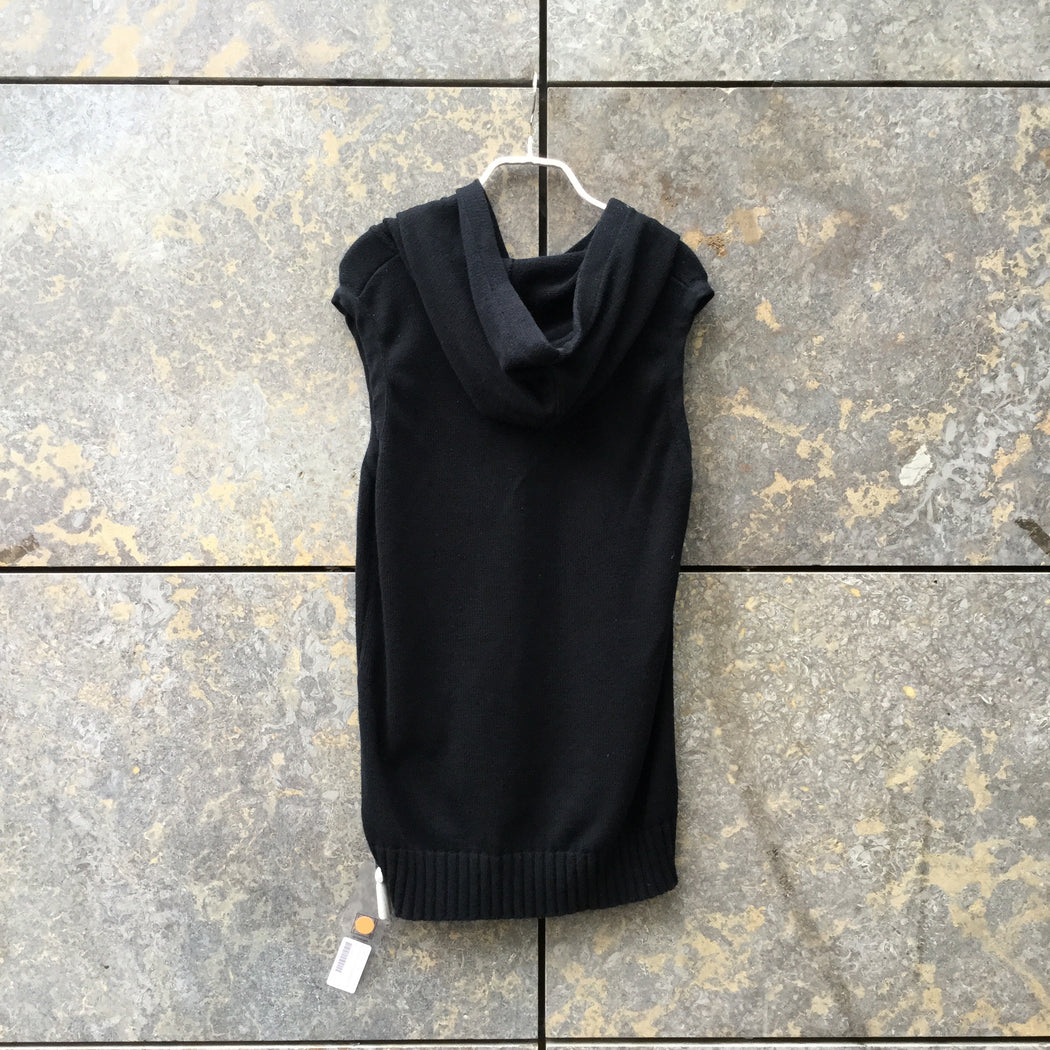 Black Cotton Helmut Lang Hoodie Sleeveless Size S/M