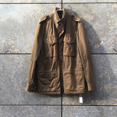 Tan Cotton Tommy Hilfiger Jacket Multi Pocket Size M/L