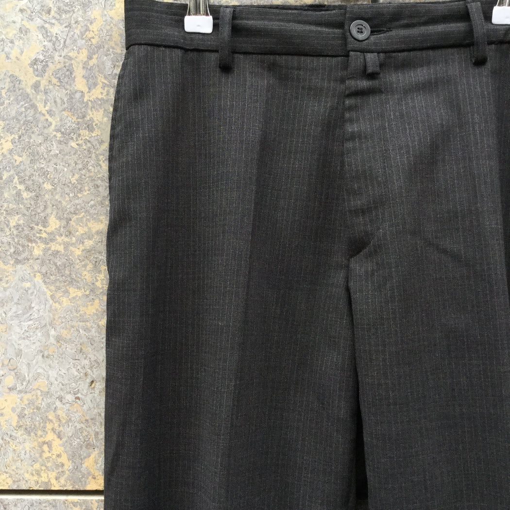 Dark Grey Wool / Acrylic Mix Dries van Noten Mens Trousers  Size 32
