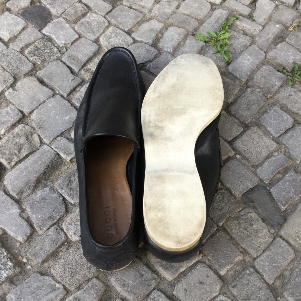 Black Leather Gucci Loafers  Size 13