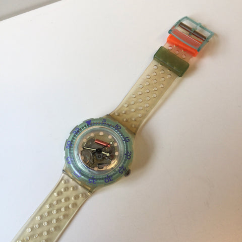 Clear-Colorful Plastic Swatch Watch