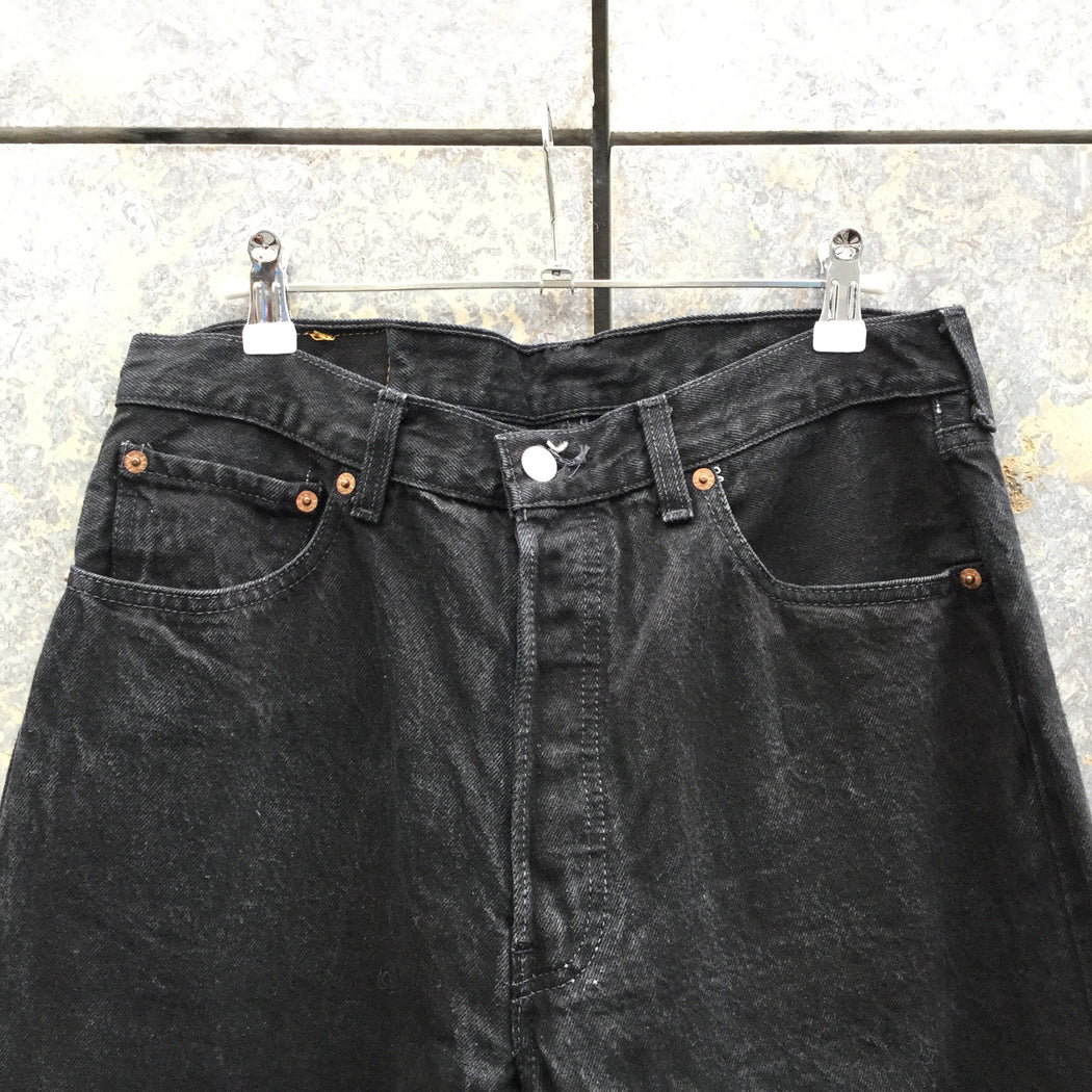 Black Denim  Levi's Straight Fit Jeans  Size 34