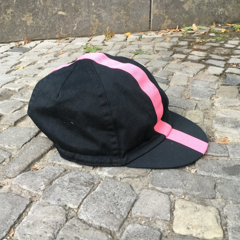 black Cotton Independent Flat Cap  Size 7 3/8