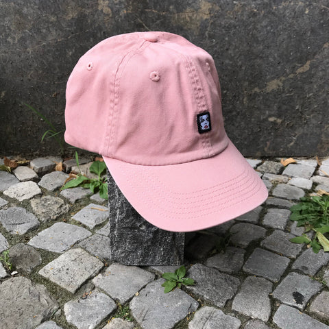 Pastel Pink Cotton Obey Cap Stitching Detail Size 7 1/2