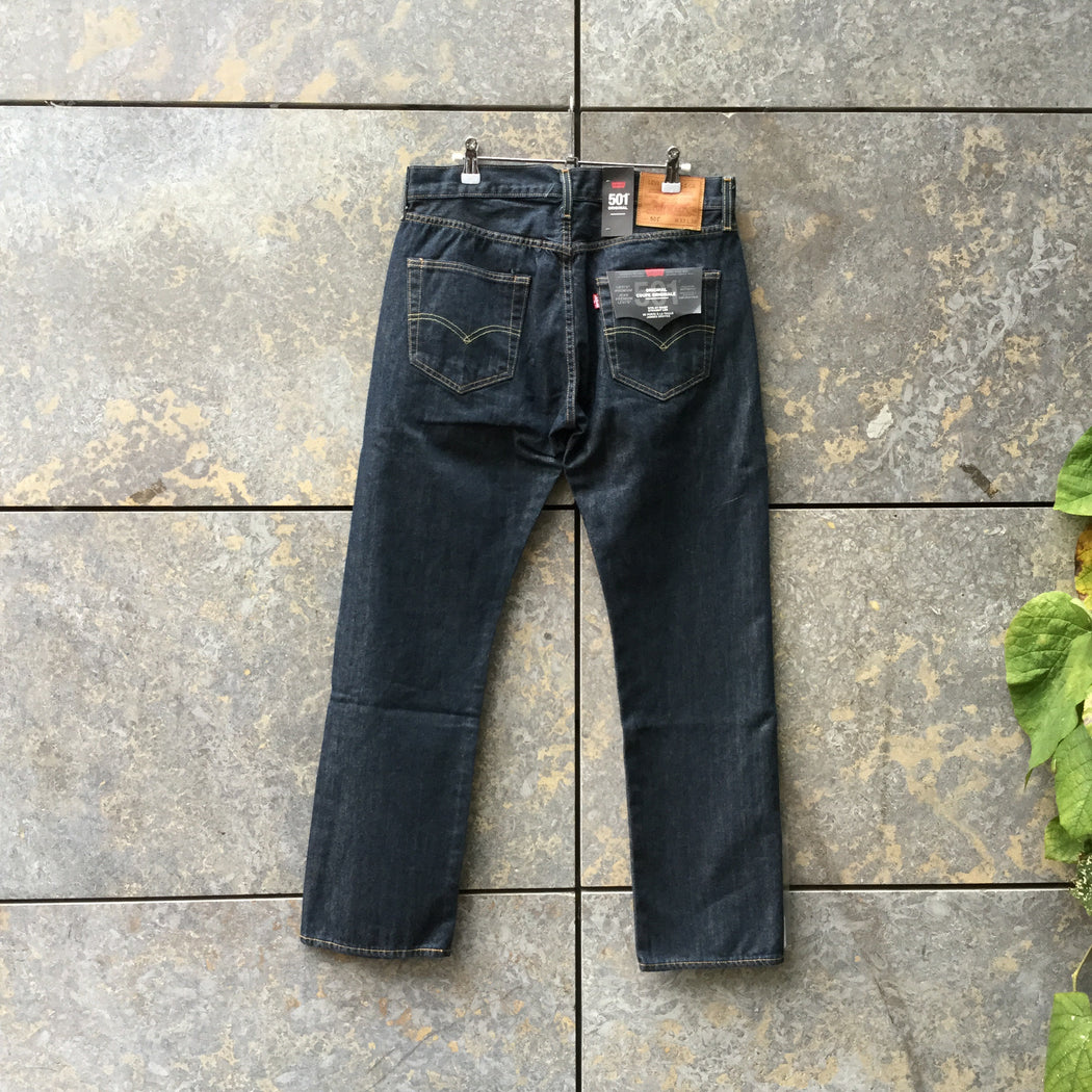 Midnight Blue Denim Levi's Straight Fit Jeans  Size 32