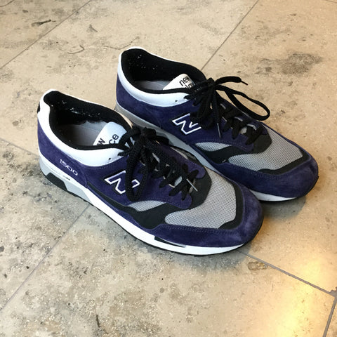 Midnight Purple-Morning Gray Leather/synthetic Mix New Balance Sneakers  Size 44