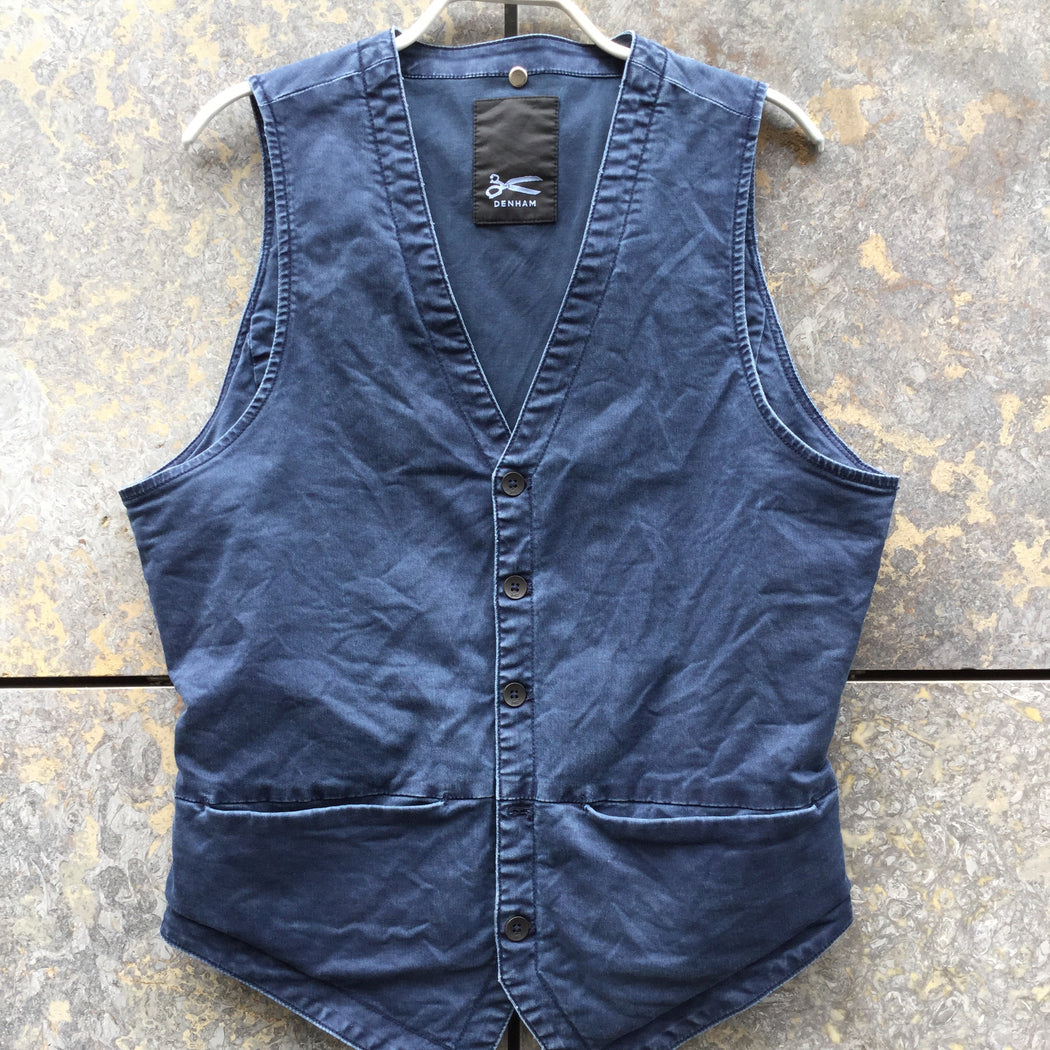 Denim Blue Cotton Denham Light Vest  Size L/XL