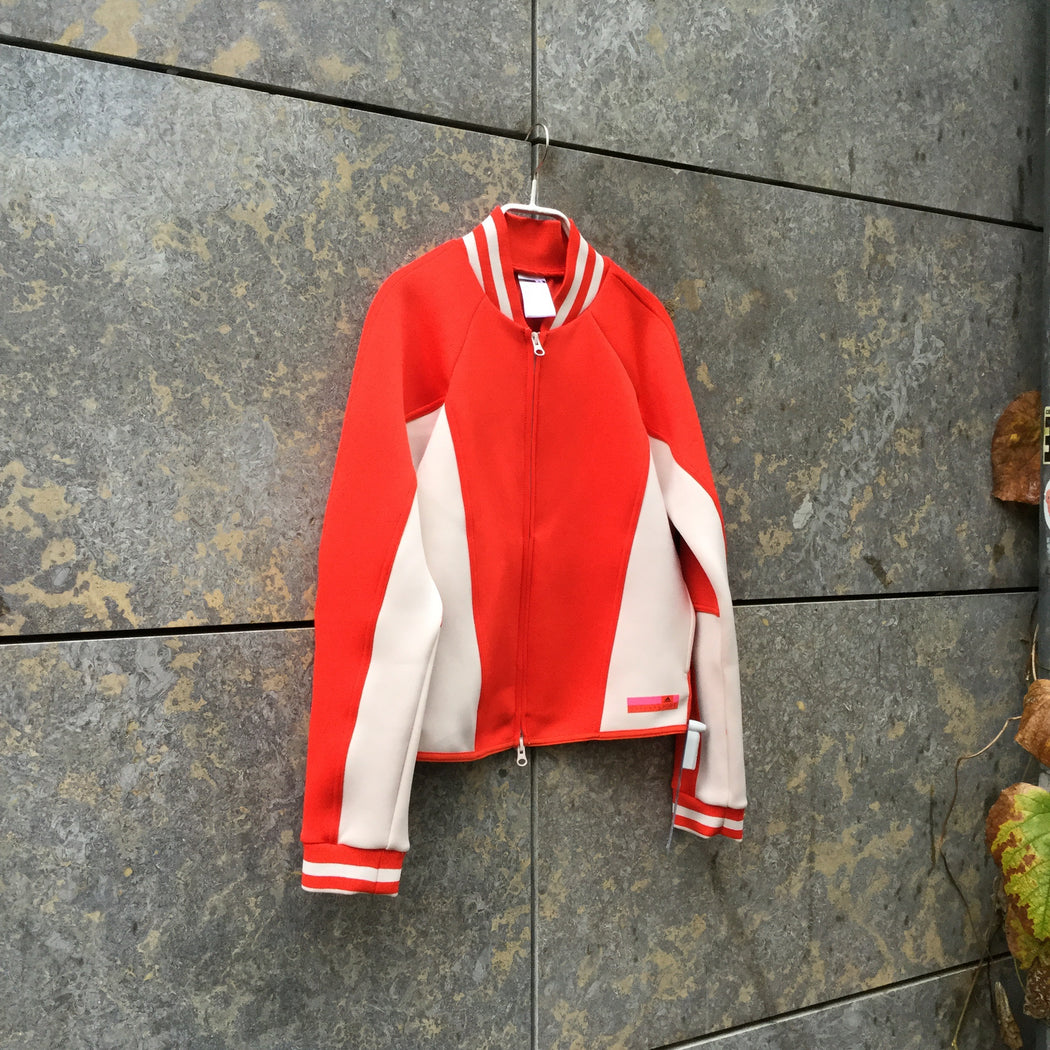 Red-White Polyester Mix Adidas By Stella Mccartney Zip Jacket  Size S/M