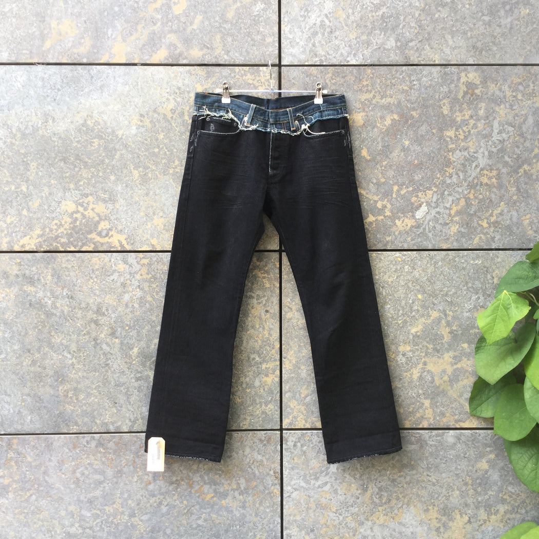Black Denim Christian Dior Straight Fit Jeans  Size 30