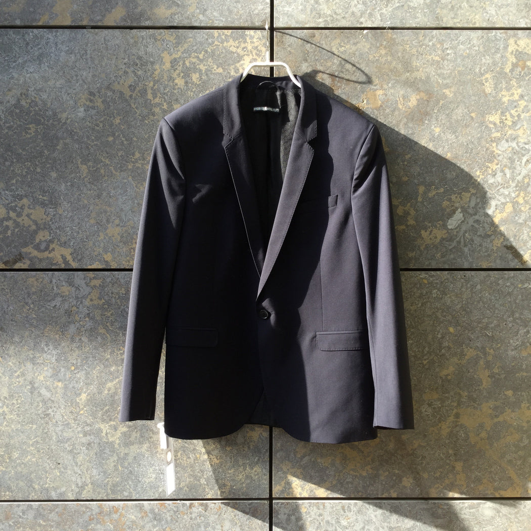 Midnight Blue Wool Mix Drykorn Blazer  Size L/XL