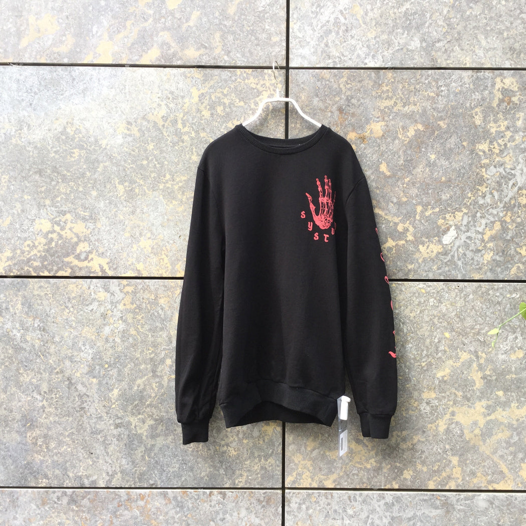 Black Cotton Systvm Sweatshirt  Size S