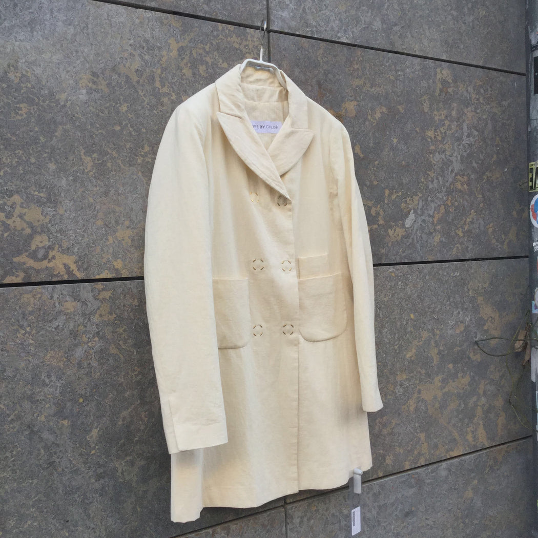 Off-White Cotton Mix See by Chloé Trench Coat Special Button Size M/L