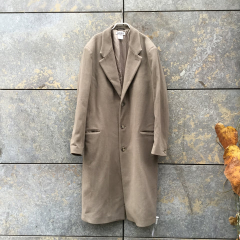 Grey Taupe Wool Mix Hope Trench Coat  Size L/XL