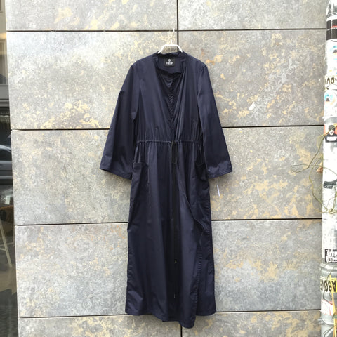 Navy Cotton / Poly Mix Independent Designer Kimono Elongated Size S/M
