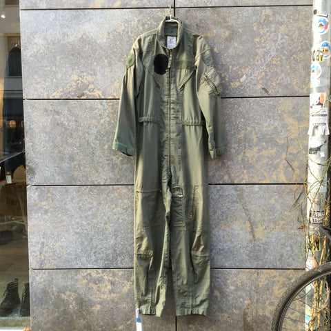 Hunter Green Cotton Vintage Overalls Multi Pocket Size L/XL