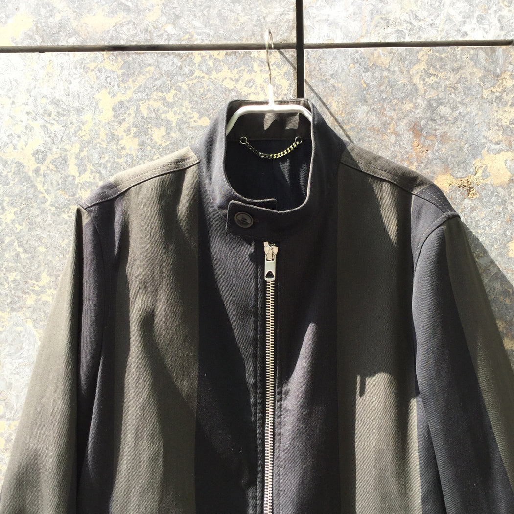 Black-Military Green Cotton Mix Diesel Black Gold Zip Jacket Zippered Size M