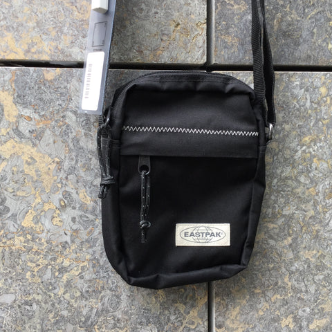 Black Nylon Eastpak Cross-body Bag Stitching Detail Size Adjustable