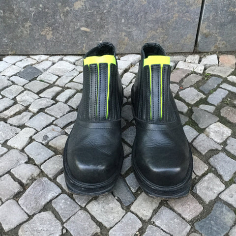 Black Leather/Synthetic Mix Dirk Bikkembergs Ankle Boots  Size 10