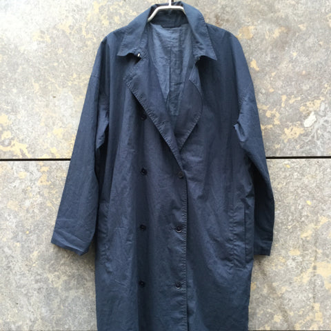 Dark Blue Cotton Samsoe And Samsoe Trench Coat  Size S/M