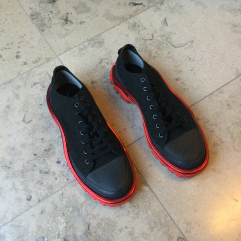 Black-Red Canvas Adidas X Raf Simons Sneakers  Size 44