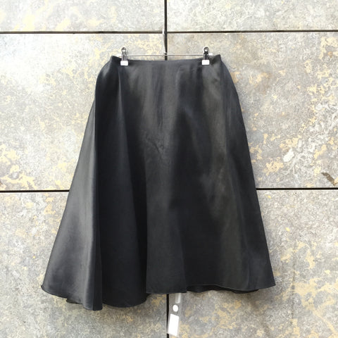 Black Polyester / Silk COS Midi Skirt Layered Size 28/29
