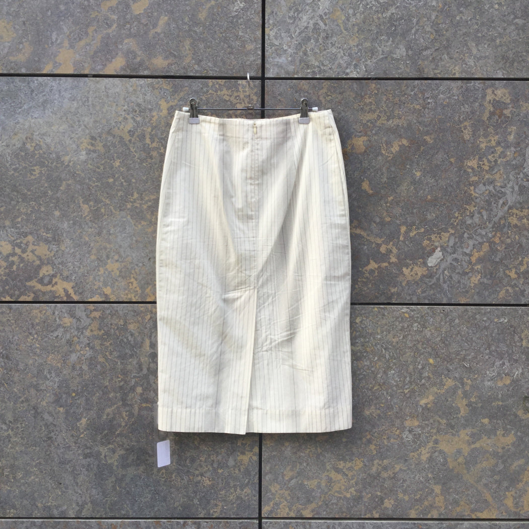 White-Black Cotton Marni Midi Skirt  Size 26/27