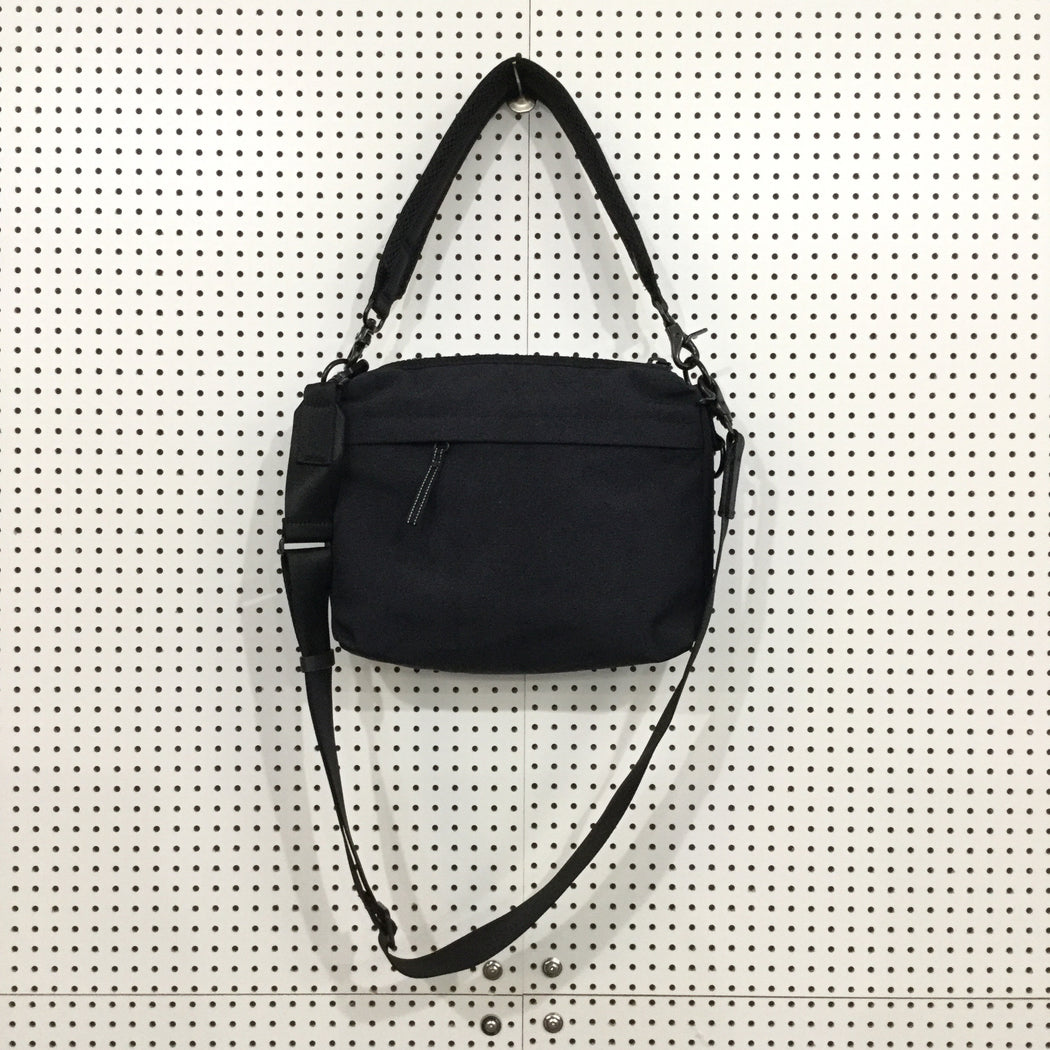 Black Polyester Mix Contemporary Main Cross-body Bag