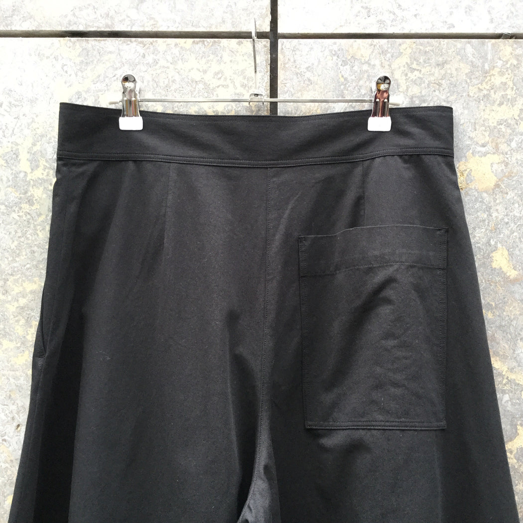 Black Cotton COS Trousers Wide Leg Size 32/33