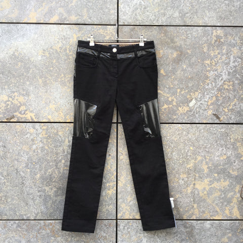 Black Denim Versace Slim Fit Jeans Conceptual Detail