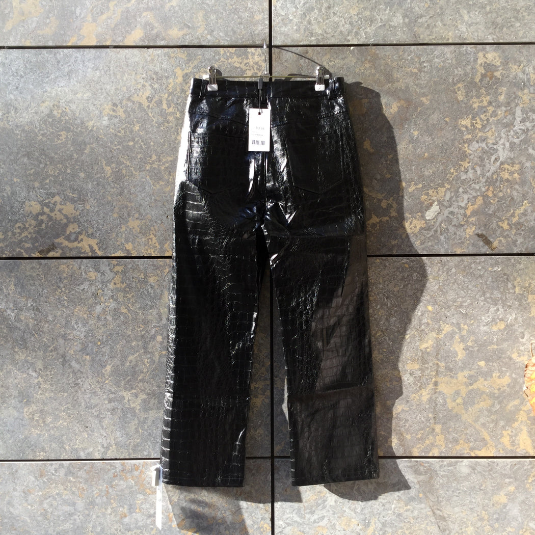 Black Pvc Independent Trousers  Size 28/29