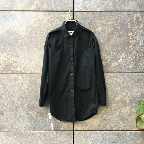 Black Cotton MM6 Maison Margiela Shirt  Size M/L