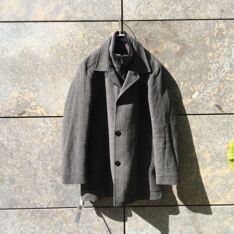 Grey Taupe Cashmere Mix Hugo Boss Parka  Size S/M